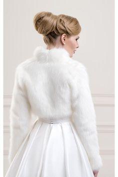 cape chle tole bolro de mariage fausse fourrure accessoires de la marie soire - Bolero Fourrure Mariage