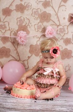 Leopard Pink Stripe Petti Romper from The Couture Baby