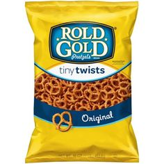 Shop for ROLD GOLD Pretzels in Snacks, Cookies & Chips. Buy products such as Rold Gold Tiny Pretzel Twists, 16 Oz. at Walmart and save. Low Fat Snacks, No Bake Snacks, Pretzel Brands, Frito Lay, Cherry Candy, Pop Tarts, Peanut Butter, Snack Recipes, Candy Recipes