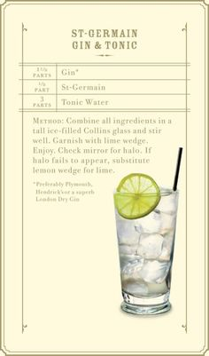 St. Germain Gin & Tonic