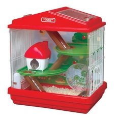 Find hamster cage and critter trail from a vast selection of Small Animal Supplies. Dwarf Hamster Cages, Cool Hamster Cages, Dwarf Hamsters, Hamster Care, Hamster Toys, Hamster Stuff, Hamster Ideas, Hamster Supplies, Pet Supplies