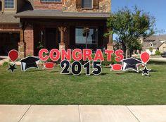 Graduation yard sign Graduation Party Decor