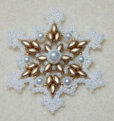 Snowflake 2 Beaded Ornament Pattern by Westtexasjewels on Etsy