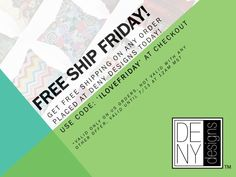 Free Ship Friday!
