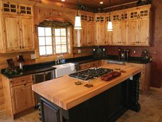 Rustic Kitchen Cabinets rustic hickory cabinets | wholesale prices on cabinet doors
