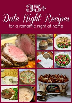 Celebrating Valentine's Day in this year? Check out these 35 Date Night Recipes for ideas for a romantic evening in!   GrowingUpGabel.com