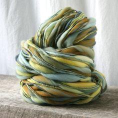 handspun yarn  thick & thin love