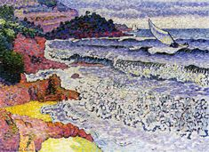 The Choppy Sea - Henri-Edmond Cross