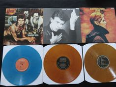Online veilinghuis Catawiki: David Bowie - 3 Classic Albums, all on COLOURED vinyl! * Diamond Dogs / Heroes / Low *
