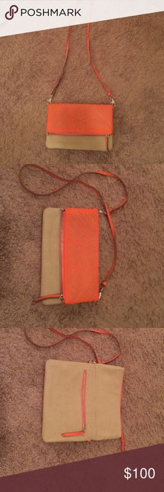 Stella & Dot cross body fold over purse Only carried a couple of times! The strap is detachable so it can be carried as a clutch. Great condition. No stains or sign of wear. Stella & Dot Bags Crossbody Bags