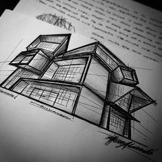Architecture: Cubic Architectural concept.