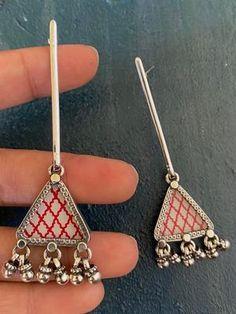 Kundan Jewellery Set, Fancy Jewellery, Silver Jewellery Indian, Oxidised Jewellery, Silver Jewelry, Fancy Earrings, India Jewelry, Handmade Jewellery, Ethnic Jewelry