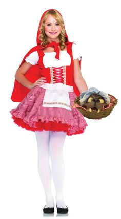 Junior Lil' Miss Red Girl's Halloween Costume