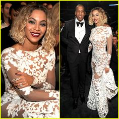 Beyonce Wears Sexy Sheer White Dress at Grammys 2014! | 2014 Grammys, Beyonce Knowles, Jay-Z : Just Jared