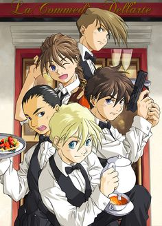 Gundam Wing with 01 02 03 04 and 05. Love my boys!!