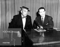 BUSTER KEATON with TV presenter and host JOE FRANKLIN in the 1960s
