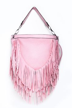 #InfiniePassion - Sac à main franges - 32.99 € - Craquez pour notre sac à main rose orné de franges pour un look ultra tendance !