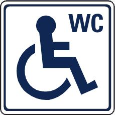 Disabled WC sign