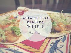Whats for Dinner Series | Week 5 Dinner