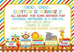 Circus Train Invitation by CustomParty4U on Etsy, $20.00