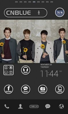 custom your phone by CNBLUE. dodol launcher.