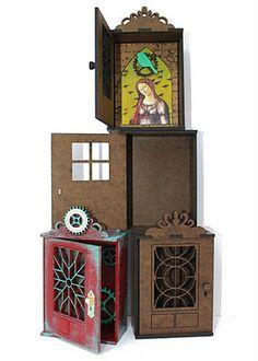 Coffee Break Design Door Shrine Kits From Retro Cafe Art Gallery. www.RetroCafeArt.com