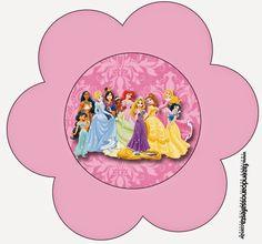 Disney Princess: Free Printable Party Invitations.
