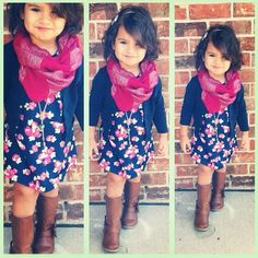 What a little fashionista.this will be my little girl :) Little Girl Outfits, Little Girl Fashion, My Little Girl, Toddler Fashion, Little Princess, Toddler Outfits, Kids Fashion, Fall Fashion, Disney Princess