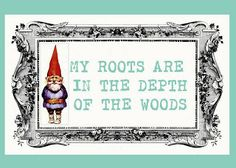 barefootbeadshawaii: Free Printable Gnome Art