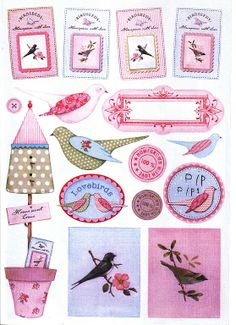 Site with number of decoupage sheets