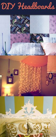 DIY Dorm Headboard Ideas the second looks like the one from perks of being a wallflower:)