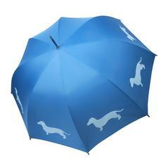 Daschund Blue Umbrella