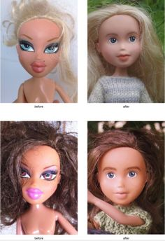 """These thrift store dolls get huge make-unders, turning them into natural beauties. Find out more about """"Tree Change"""" dolls by Sonia Singh"""