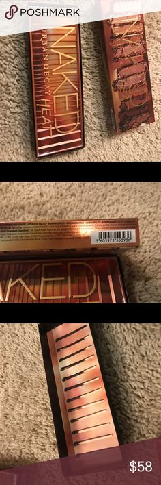 Brand new urban decay naked heat palette! Brand New never opened! I will think about all offers (: I only trade for Kendra Scott necklaces! Urban Decay Makeup Eyeshadow