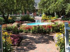 Garden fountain,Prescott Park,Portsmouth