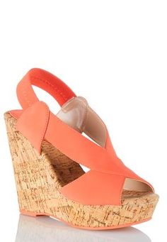Cato Fashions Cross Strap Platform Wedges #CatoFashions
