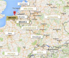 mapa bruges belgica