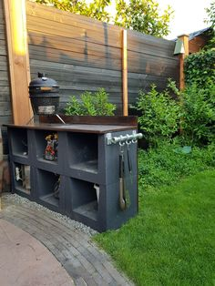 Bbq Shed, Grill Gazebo, Backyard Water Feature, London Garden, Outdoor Kitchen Design, Outdoor Cooking, Garden Styles, Dream Garden, Garden Projects