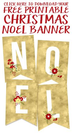 Click to Download the Free Printable Christmas Noel Banner