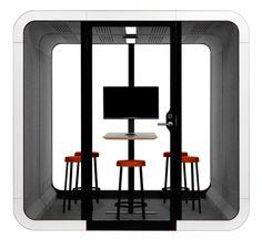 Framery 2Q Akoestische phonebooth | Werken in focus | Loff maatkantoren Pods For Sale, London Telephone Booth, Office Pods, Adjustable Stool, Sound Proofing, Light Sensor, Buying Wholesale, White Light, Wooden Boxes