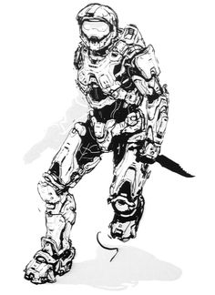 Master Chief Helmet Halo 4 Drawings