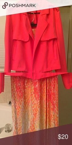 A maxi skirt with a jacket to match. Only worn 2x Beautiful long maxi skirt with a jacket to match. Jacket is size 20 & Skirt is size 22. Only worn twice Lane Bryant Skirts Skirt Sets