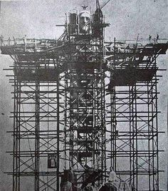 Making of Christ the Redeemer statue, Rio de Janeiro (constructed between 1926-1931)