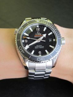 Omega Planet Ocean 45mm with Ceramic Bezel and the new 8500 caliber movement with a 60 hour power reserve  Dual directional winding automatic  39 jewels  COSC certification