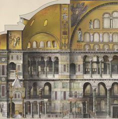 Santa Sofía Antoine Helbert Reconstruction, plans, elevations and sections of Byzantine monuments; Constantinople, to century Architecture Byzantine, Architecture Antique, Art Et Architecture, Classical Architecture, Historical Architecture, Architecture Details, Hagia Sophia, Roman City, Byzantine Art