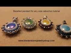 Learn to Bezel a pendant for any size cabochon tutorial ~ Seed Bead Tutorials