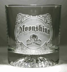 Moonshine Whiskey Glass at Crystal Imagery.