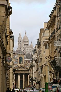 Looking toward Montmartre, Paris
