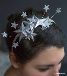 Get ready to celebrate! Make a pretty glitter paper star headband with this awesome DIY download and tutorial from the girls at Lia Griffith Studio.
