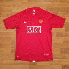 Manchester United MUFC Nike 2008 Soccer Football Shirt Jersey Red Youth XL | eBay